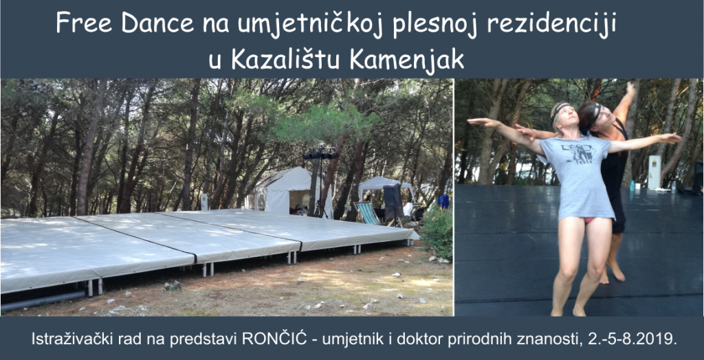 Free Dance na ljetnoj plesnoj rezidenciji u Kazalištu Kamenjak, 2.–5.8.2019.